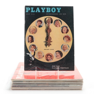 """""""Playboy"""" Magazines Featuring Jayne Mansfield and Others, 1957"""