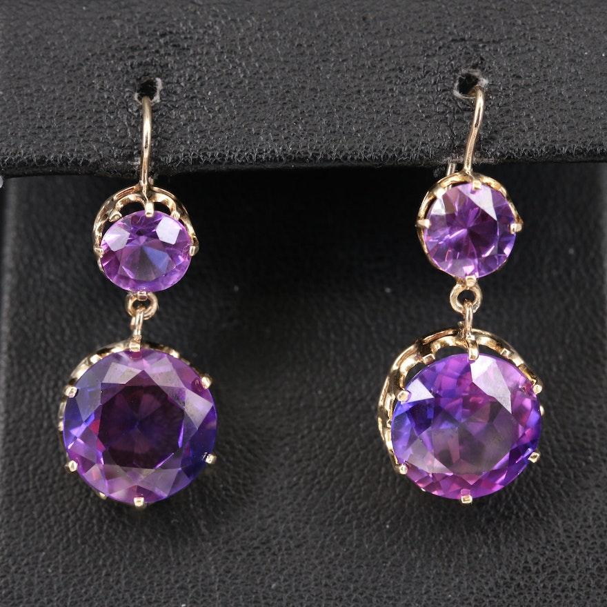 14K Sapphire Tiered Earrings