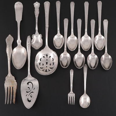 Wm Rogers & Son and Other American Silver Plate Flatware and Utensils