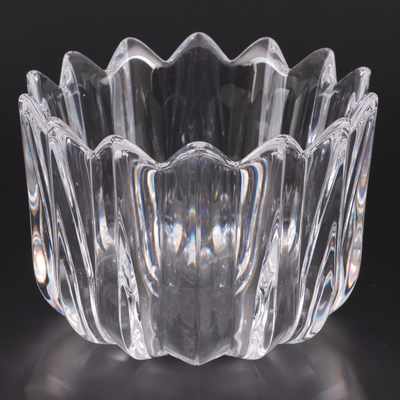 "Jan Johannsson for Orrefors ""Fleur"" Crystal Bowl, Late 20th Century"