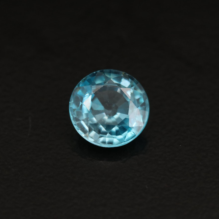 Loose 1.93 CT Round Faceted Zircon