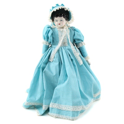 Hand-Painted Low Brow Style China Head Doll