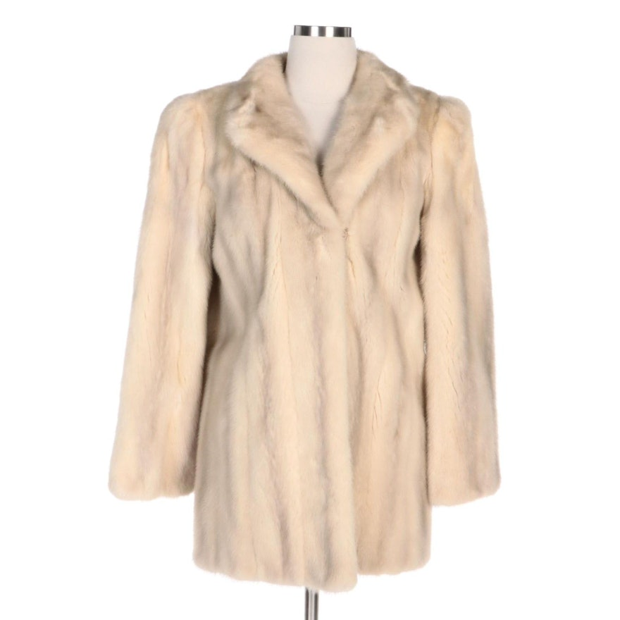 Emba Azurene Mink Fur Coat with Shawl Collar for Lowenthal's