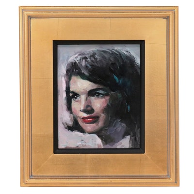 Adam Deda Oil Portrait of Jackie Kennedy, 2021