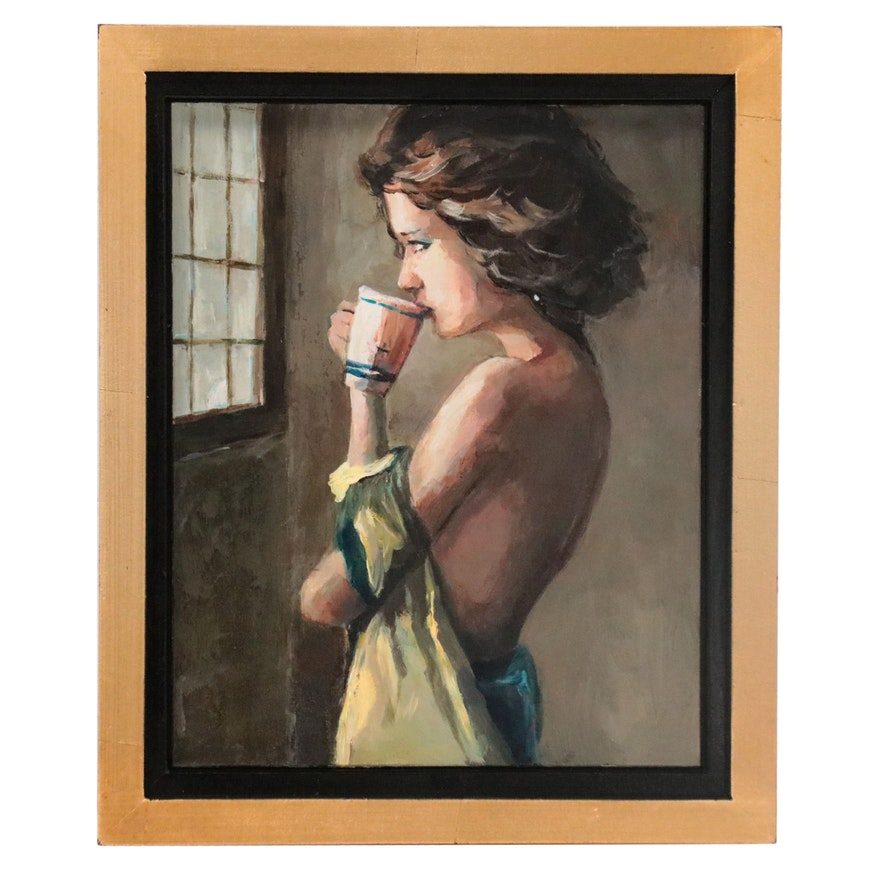 "Adam Deda Oil Painting ""Morning Light,"" 2021"