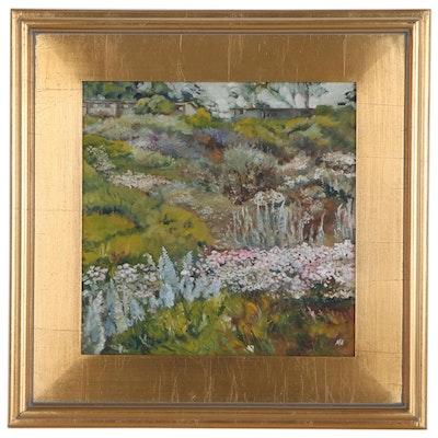 "Marina Ivanova Oil Painting ""Presidio Hill in Spring,"" 2018"