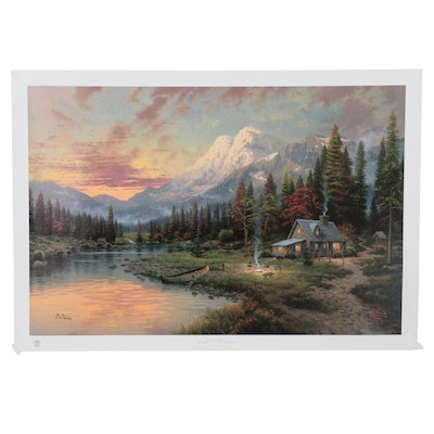 "Thomas Kinkade Offset Lithograph ""Evening Majesty"""