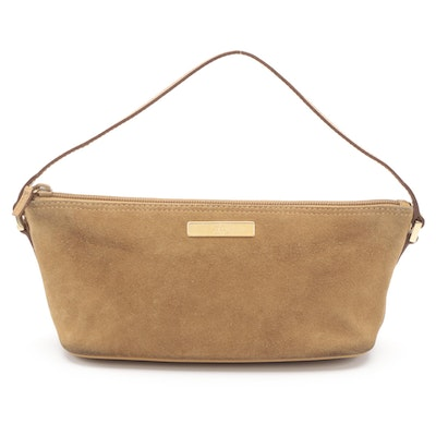 Gucci Baguette Bag in Natural Suede and Leather