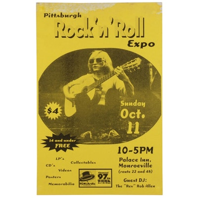 "The ""Rev"" Rob Allen Themed Commemorative Pittsburgh Rock 'N Roll Expo Poster"