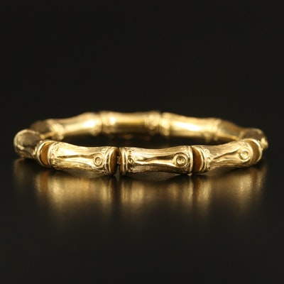 18K Bamboo Link Bracelet