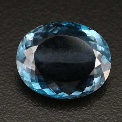 Loose 17.20 CT London Blue Topaz