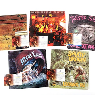 Meat Loaf, Alice Cooper, Blue Oyster Cult, More Signed Records with Photos, COAs