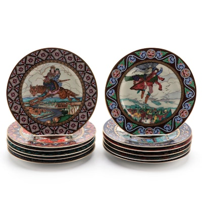 "Heinrich Villeroy & Boch ""The Russian Fairy Tales"" Porcelain Collector Plates"