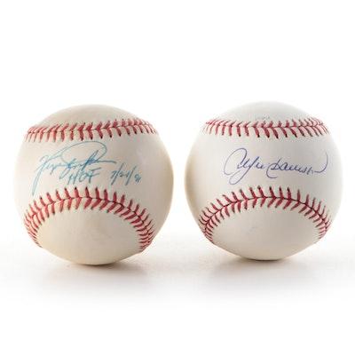 Andre Dawson and Ferguson Jenkins Signed Rawlings Major League Baseballs