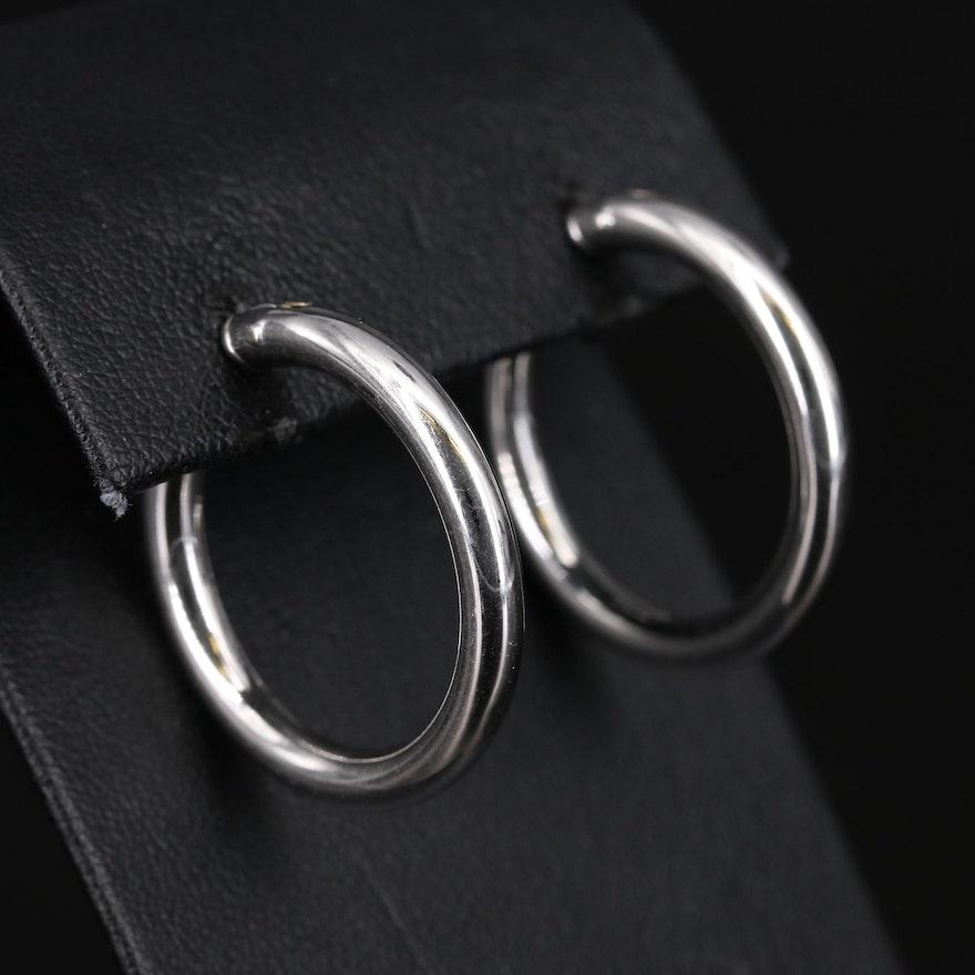 18K Italian Gold Hoop Earrings
