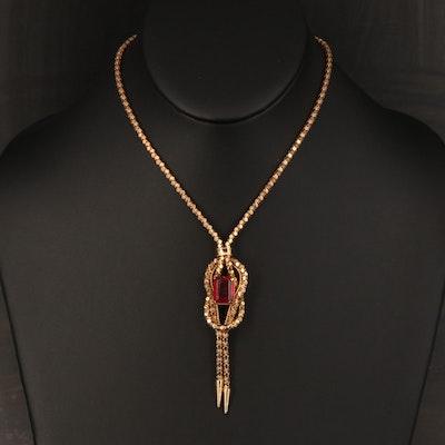 Italian UnoAErre 18K Ruby Bolero Necklace