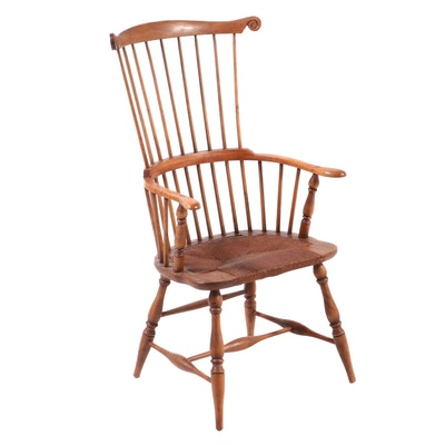 American Primitive Style Comb-Back Windsor Armchair, 20th Century