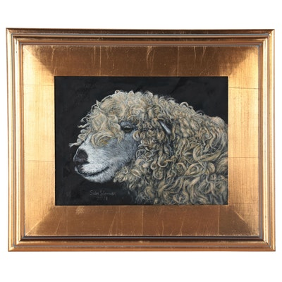 Siân Sloman Oil Painting of Sheep, 2021