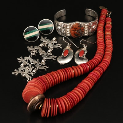 Southwestern Jewelry Featuring Sandra Davis Necklace and Kokopelli Link Bracelet