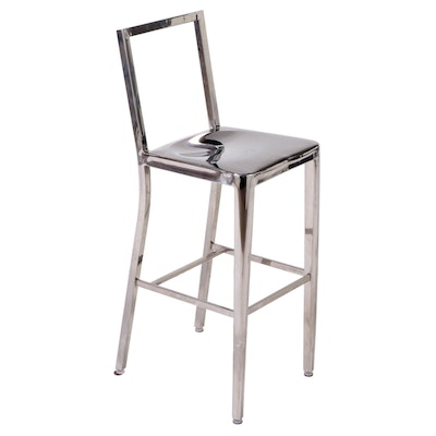 Wesnic Modernist Style Chrome Barstool