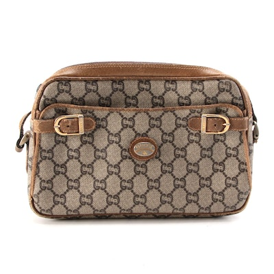 Gucci Plus Camera Bag in GG Coated Canvas and Leather