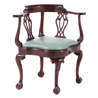 Hancock & Moore Chippendale Style Mahogany Corner Chair