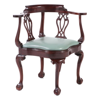 Hancock & Moore Chippendale Style Mahogany Corner Chair