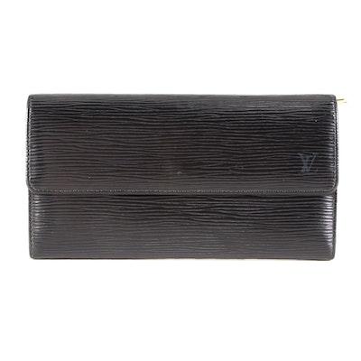 Louis Vuitton Porte-Monnaie Credit Wallet in Black Epi Leather