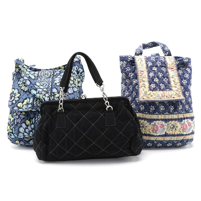 Vera Bradley Quilted Cotton Backpack, Hobo Bag and Handbag
