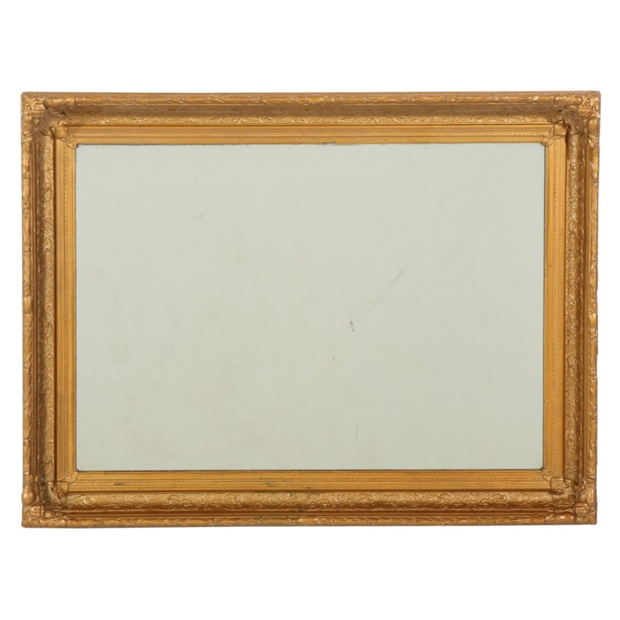 Late Victorian Gilt and Gesso Wall Mirror, Late 19th/ Early 20th Century