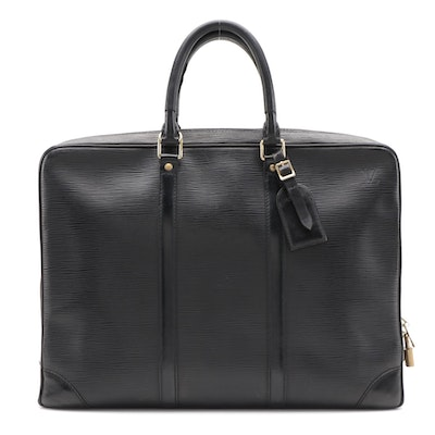 Louis Vuitton Porte-Documents Voyage Briefcase in Black Epi Leather