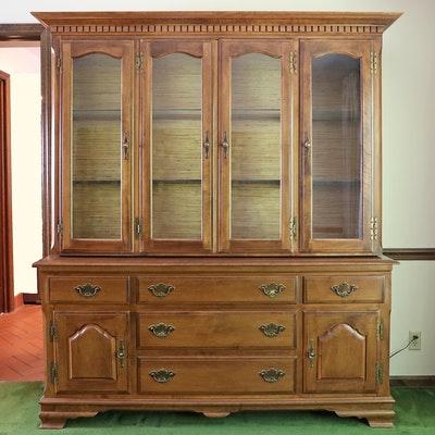 "Heywood-Wakefield ""Publick House Collection"" Illuminated China Cabinet"