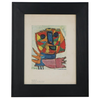 """Offset Lithograph after Karel Appel """"Cry For Freedom"""""""