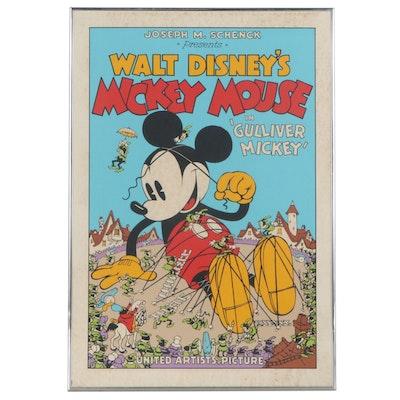 "Circle Fine Art Corporation Serigraph Poster ""Gulliver Mickey"""