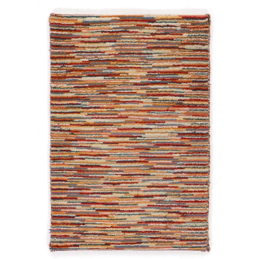2' x 3' Hand-Knotted Indo-Persian Gabbeh Rug, 2010s