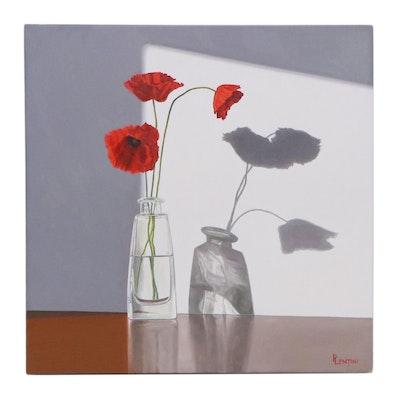 "Peter Lentini Oil Painting ""Luminoso,"" 21st Century"