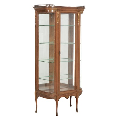Neoclassical Tyle Parcel-Gilt Wood and Glass Display Case, Late 20th Century