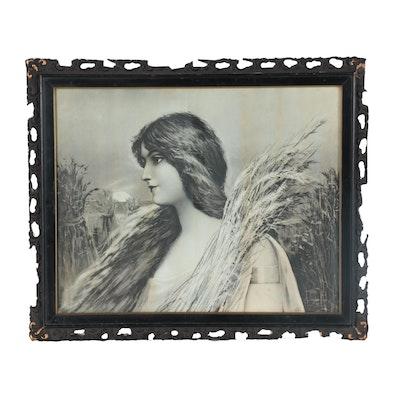 Ullman Manufacturing Company Halftone of Woman, circa 1900