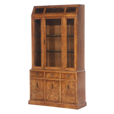 "Bernhardt ""Hibriten"" Oak and Elm China Cabinet, Mid to Late 20th Century"