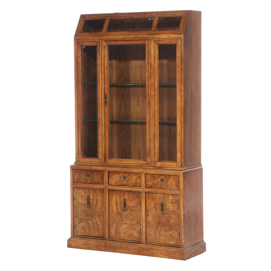 """Bernhardt """"Hibriten"""" Oak and Elm China Cabinet, Mid to Late 20th Century"""
