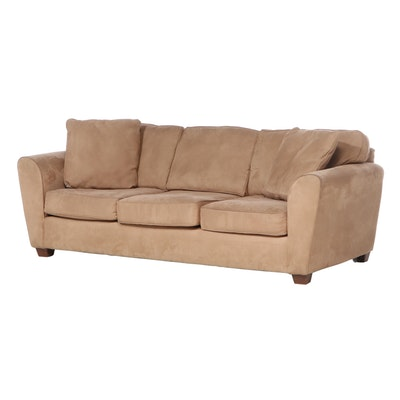 Bauhaus Microfiber Three-Seat Sofa