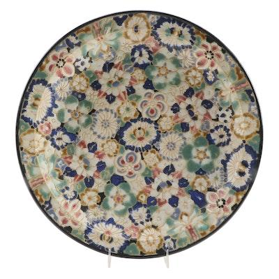 Artasia Inc. Vietnamese Handmade Floral Motif Ceramic Dish