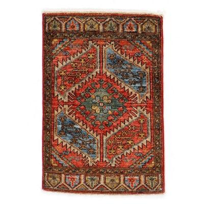 2' x 3' Hand-Knotted Afghan Turkish Yastık Style Rug, 2010s