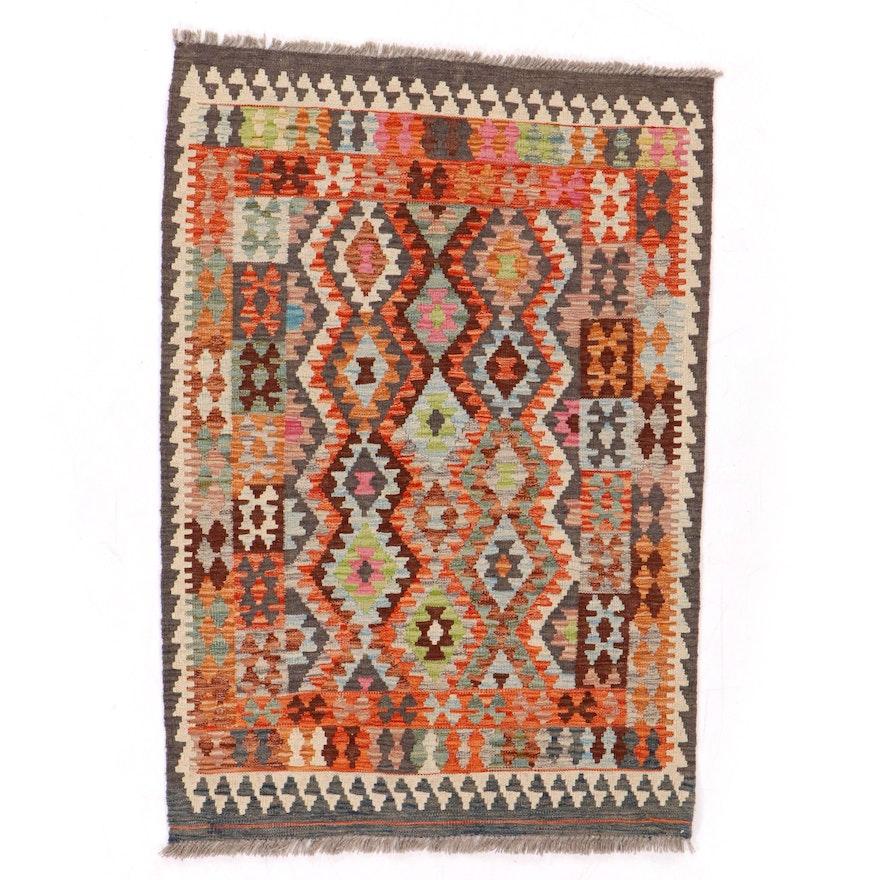 3'6 x 5'3 Handwoven Turkish Kilim Rug, 2010s