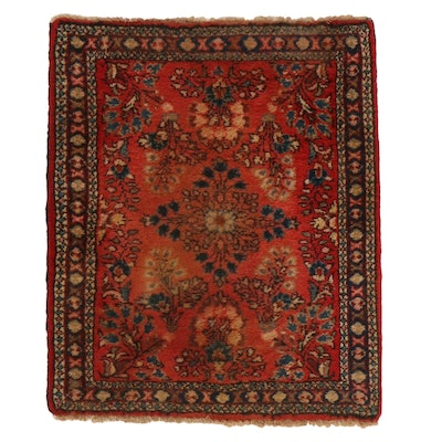 2'2 x 2'7 Hand-Knotted Persian Sarouk Rug, 1930s