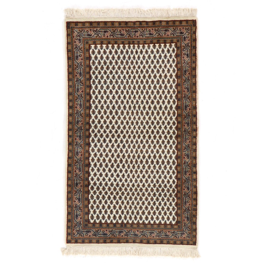 3' x 5'7 Hand-Knotted Indo-Persian Mir Sarouk Rug, 2010s