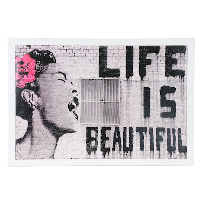 "Giclée after Banksy ""Life is Beautiful,"" 21st Century"
