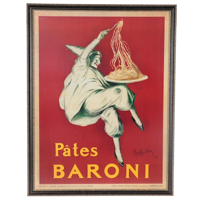 "Offset Lithograph after Leonetto Cappiello ""Pâtes Baroni,"" Late 20th Century"