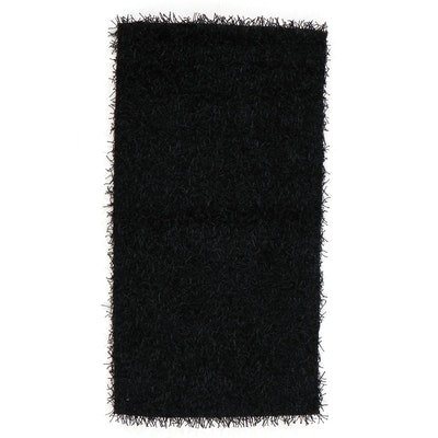 2'7 x 4'11 Hand-Tufted Indian Synthetic Shag Rug, 2010s