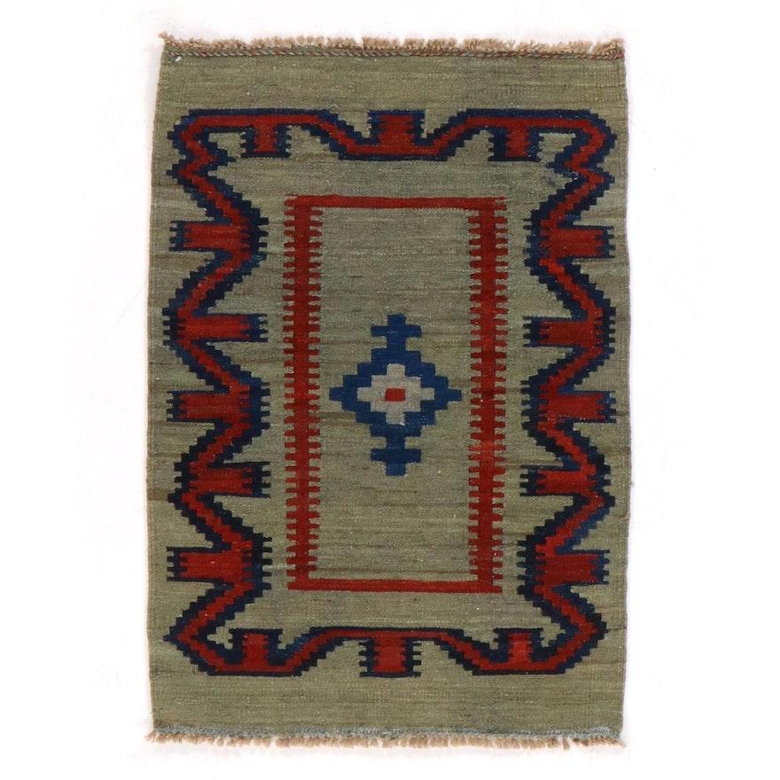 2'5 x 3'6 Hand-Knotted Persian Kurdish Kilim Rug, 2000s